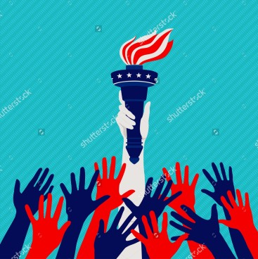 stock-vector-reaching-hands-statue-of-liberty-in-the-national-colors-the-concept-of-the-american-dream-281342447